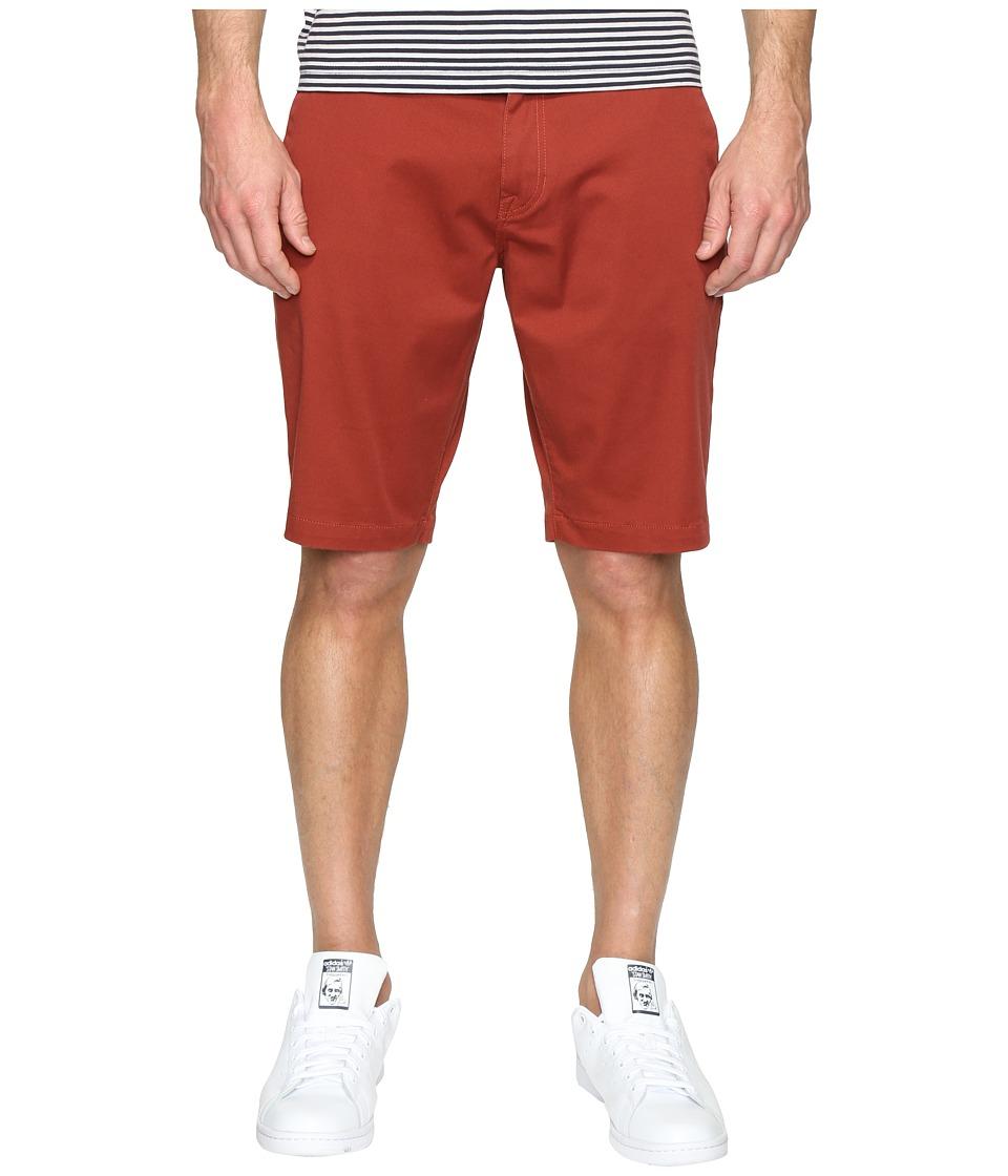 Volcom Frickin Modern Stretch Chino Shorts (Dark Clay) Men