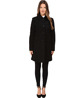 Kate Spade New York - 4-Button A-Line Single Breasted Coat w/ Bow Pockets