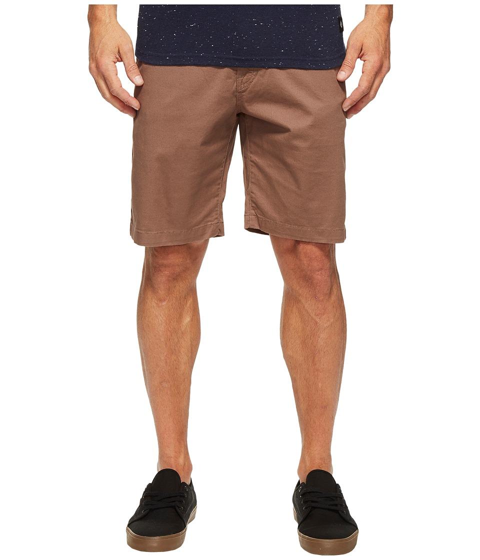 Volcom Frickin Lightweight Chino Shorts (Mushroom) Men