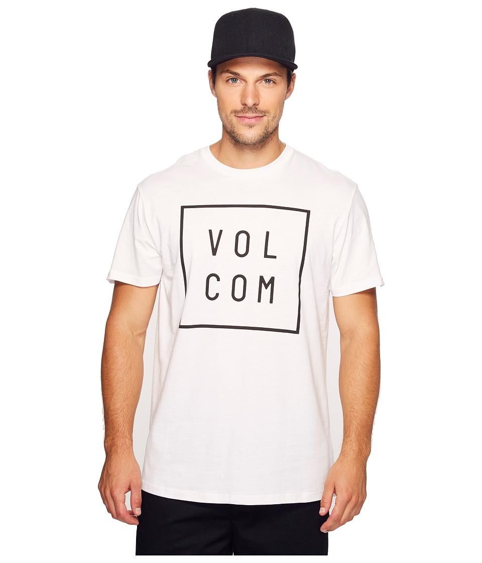 Volcom Flagg Short Sleeve T-Shirt (White) Men