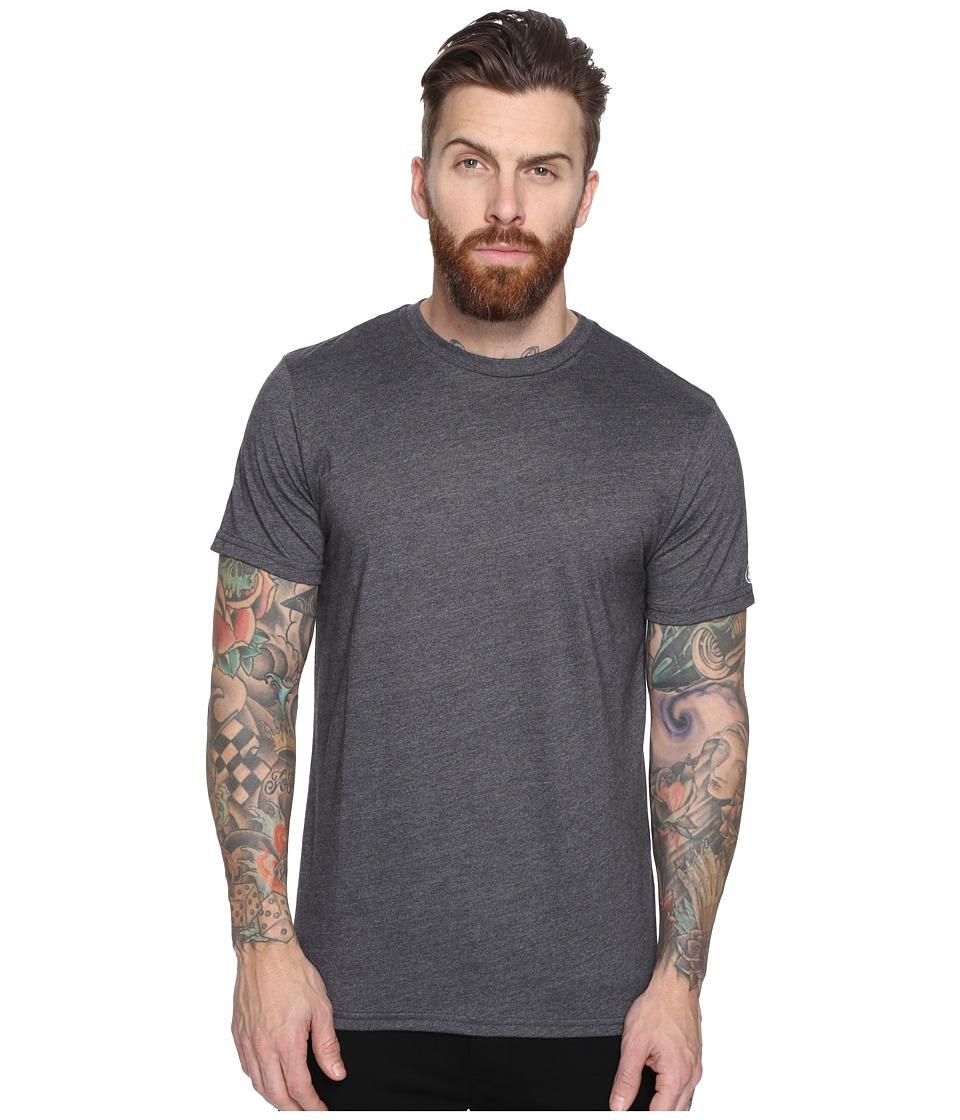 Volcom Heather Solid T-Shirt (Heather Black) Men