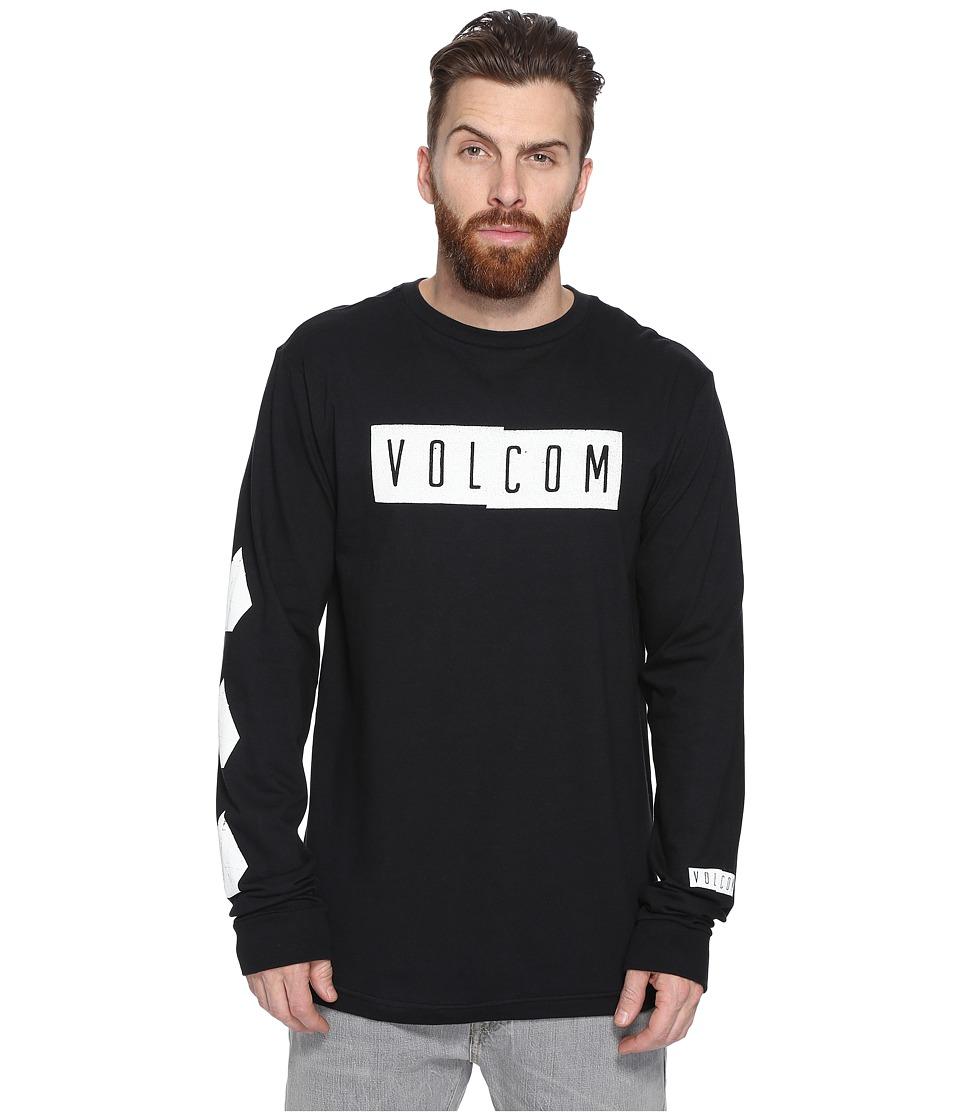 Volcom Shifty Long Sleeve T-Shirt (Black) Men