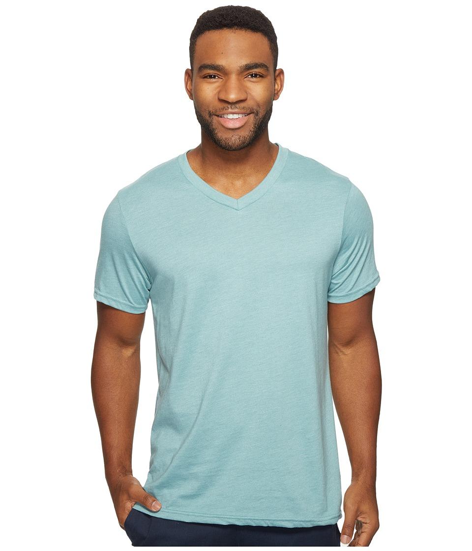Volcom Heather Short Sleeve V-Neck T-Shirt (Sea Blue Heather) Men