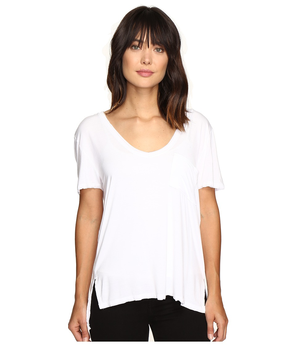 Free People Rising Sun Tee (White) Women