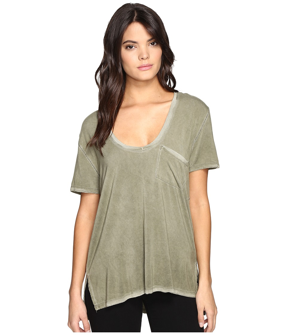 Free People Rising Sun Tee (Moss) Women