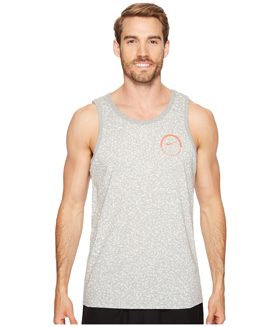 Nike Dry Basketball Tank (Dark Grey Heather/Dark Grey Heather) Men