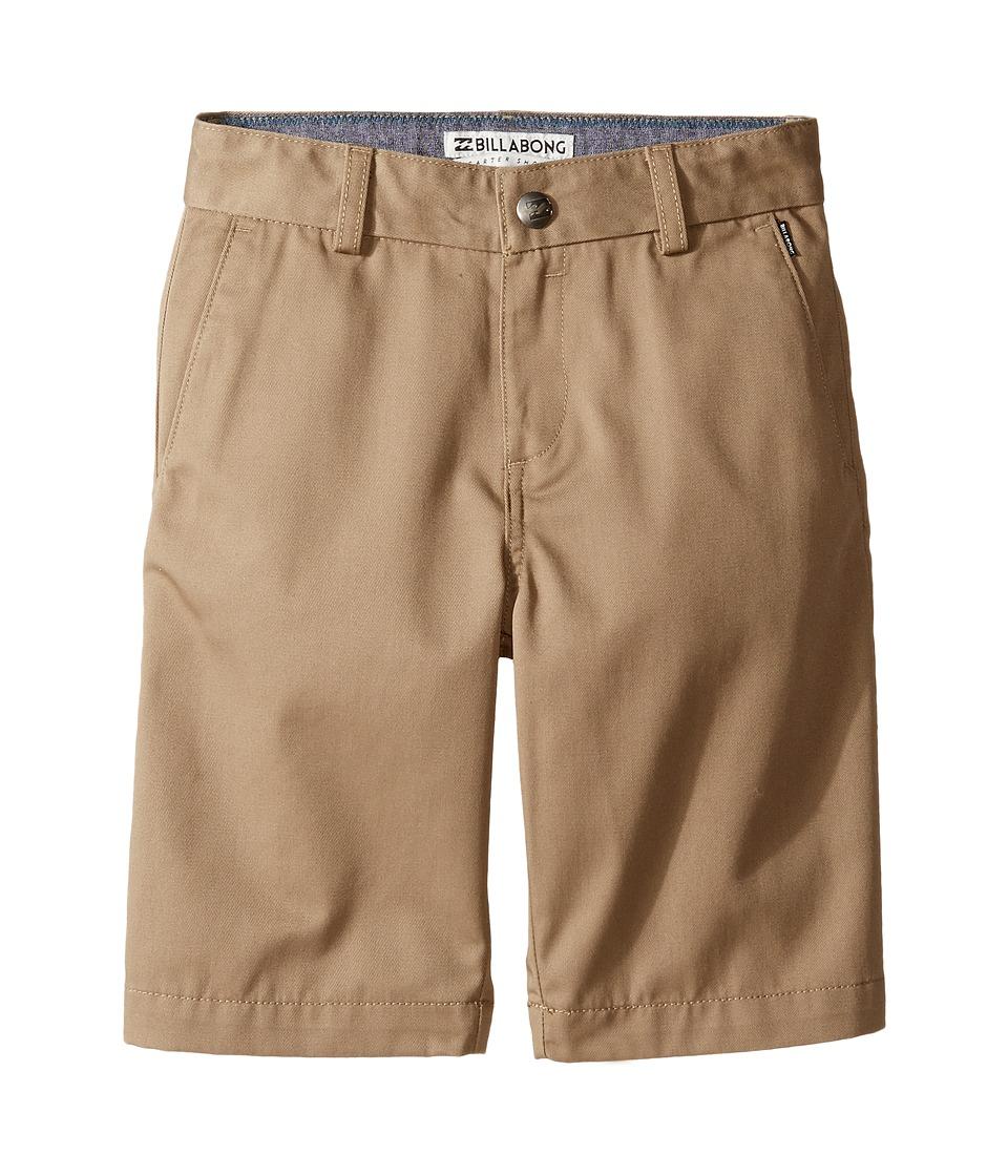 Billabong Kids - Carter (Toddler/Little Kids) (Dark Khaki) Boys Shorts
