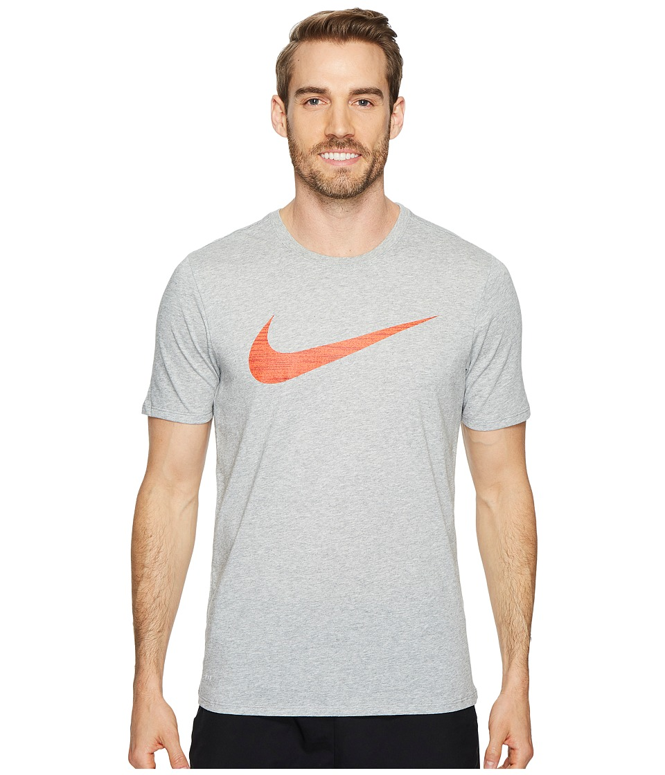 Nike Dry Swoosh Training T-Shirt (Dark Grey Heather) Men