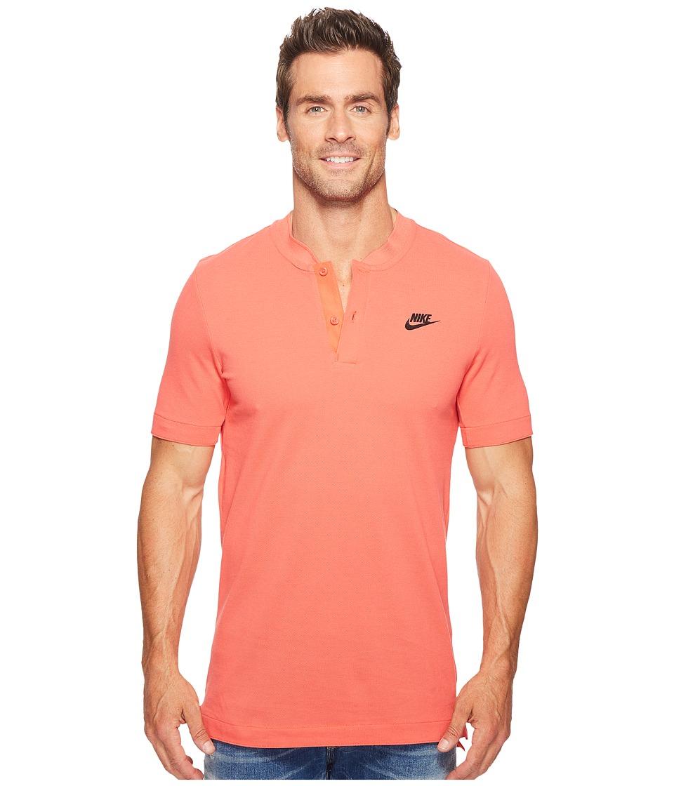 Nike - Sportswear Modern Short Sleeve Top (Track Red/Black) Men's Short Sleeve Pullover