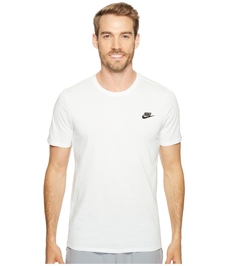 Nike - Core Embroidered Futura Tee (White/White/Black) Mens Clothing