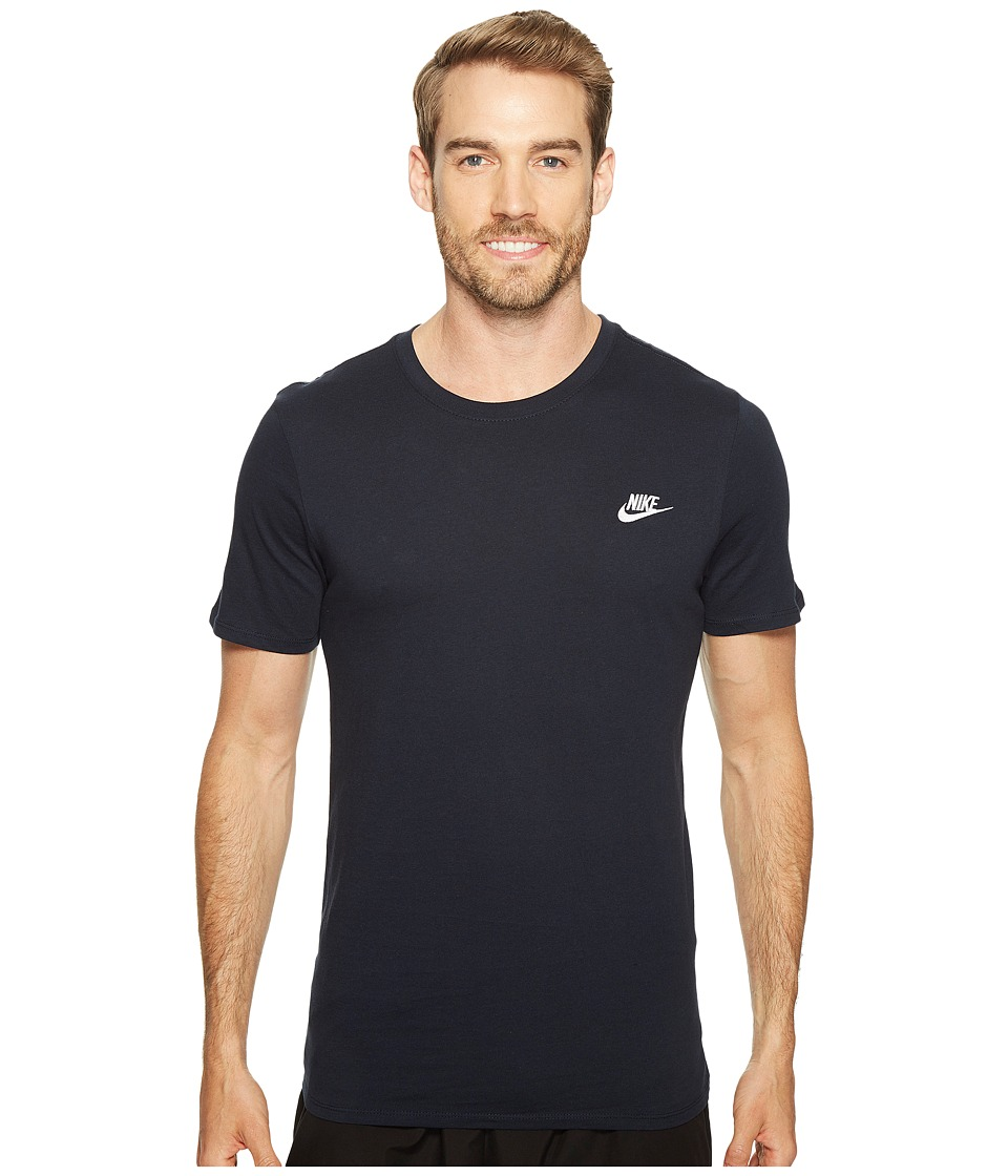 Nike Core Embroidered Futura Tee (Dark Obsidian/Dark Obsidian/White) Men