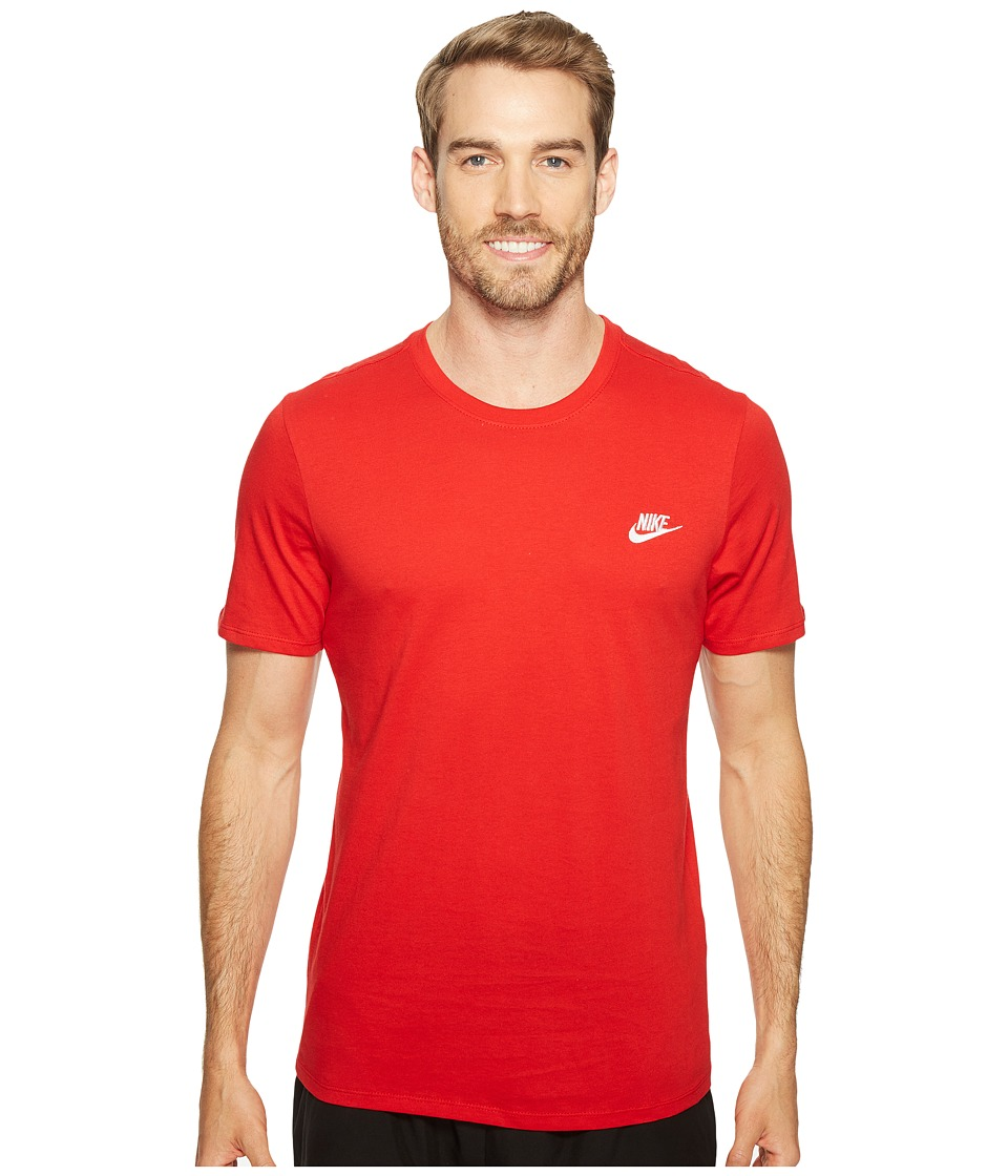 Nike Core Embroidered Futura Tee (Sport Red/Sport Red/White) Men