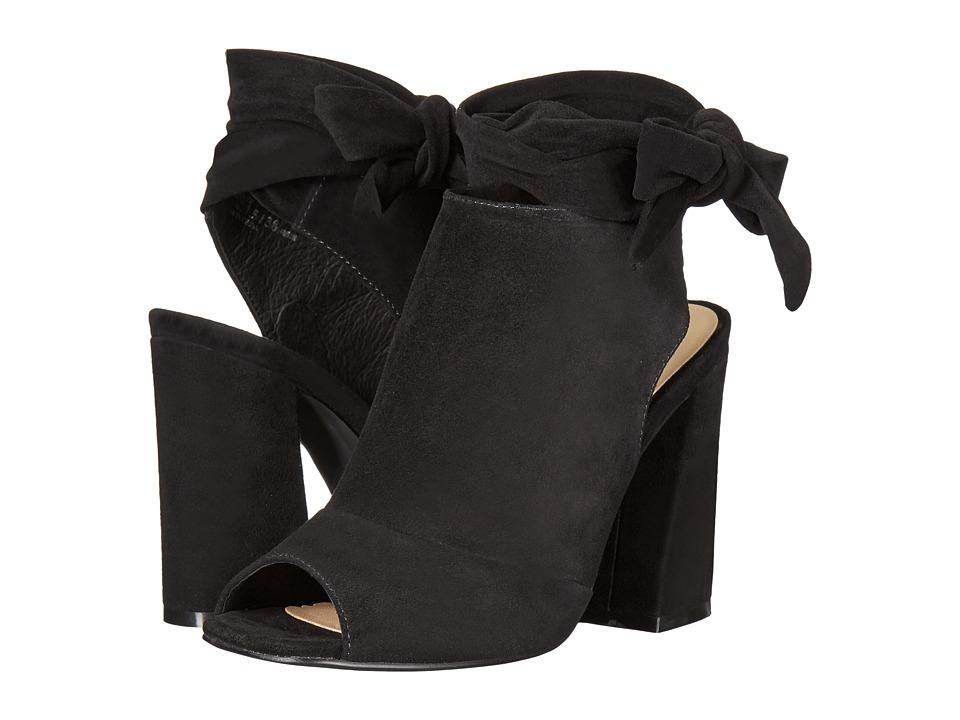 Kristin Cavallari - Leeds Peep Toe Bootie (Black Kid Suede) High Heels