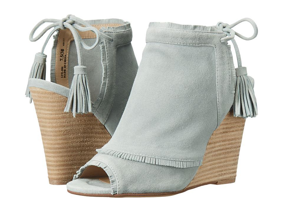 Kristin Cavallari - Latakia Wedge Sandal (Blue Kid Suede) Womens Wedge Shoes