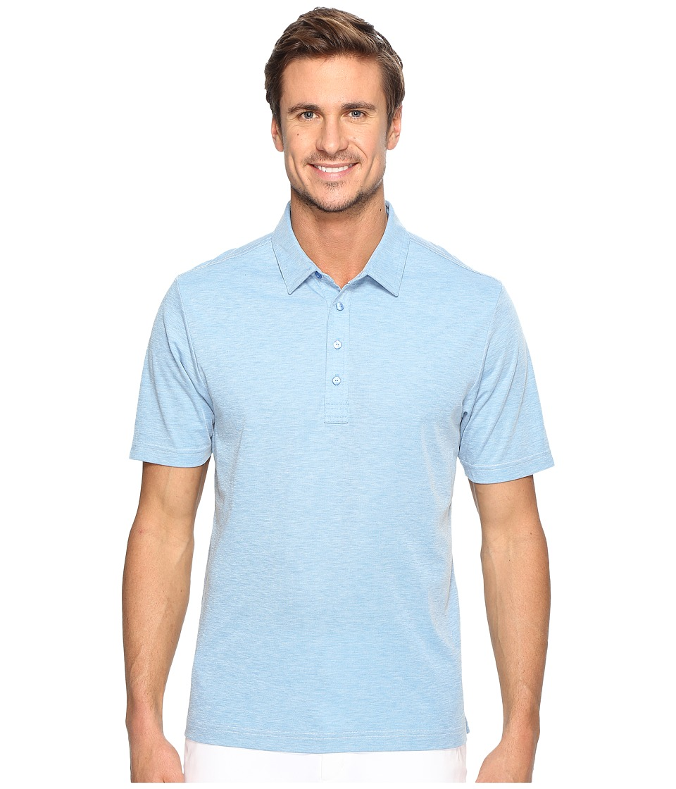 TravisMathew - The Ten Year Polo (Brilliant Blue/Frost) Mens Clothing