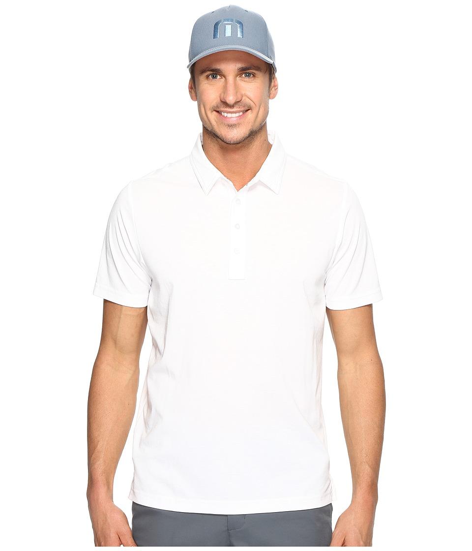 TravisMathew - The Ten Year Polo (White) Men's Clothing