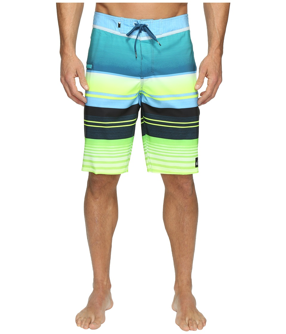 Quiksilver Everyday Stripe Vee 21 Boardshorts (Moroccan Blue) Men