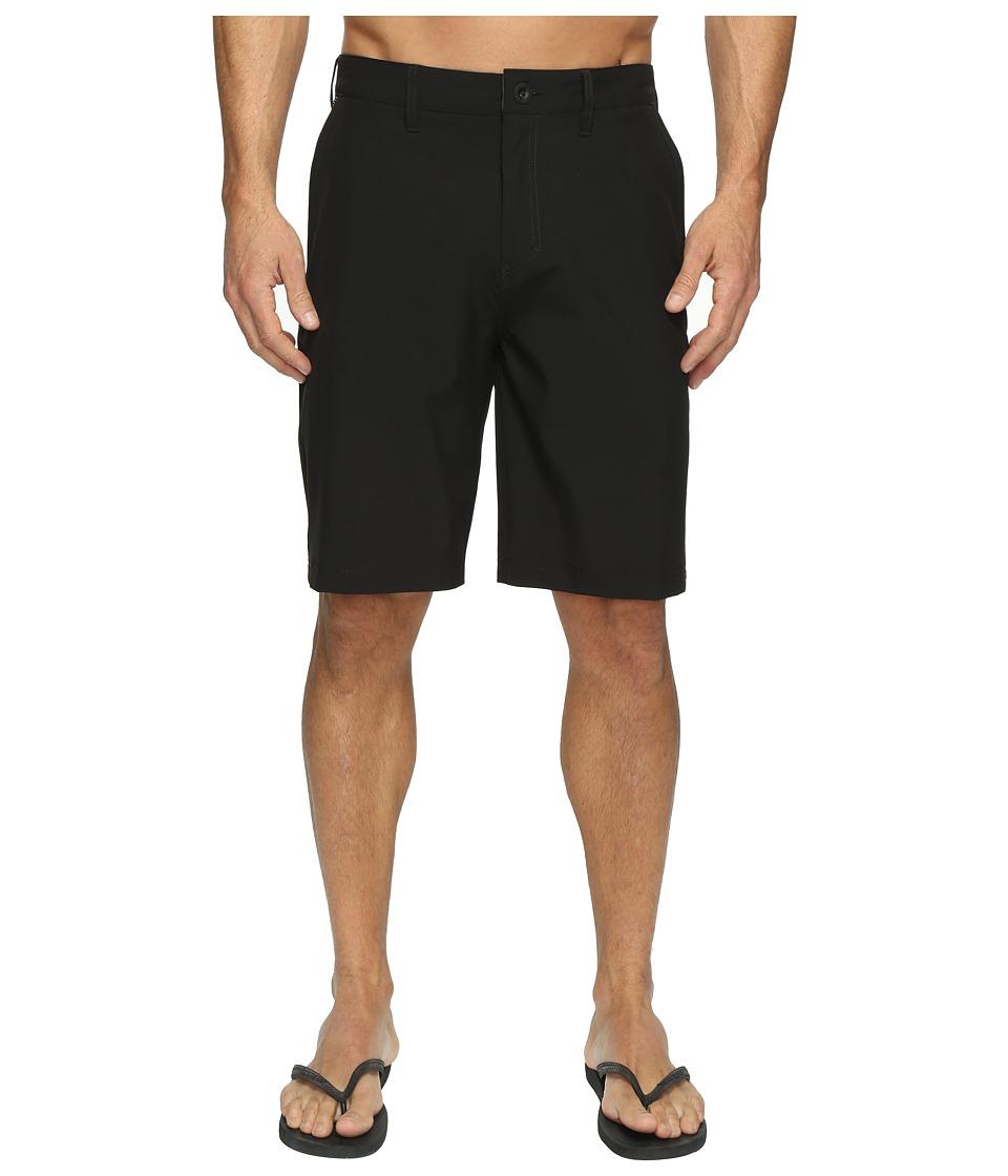 Quiksilver Solid Amphibian 21 Hybrid Shorts (Black) Men