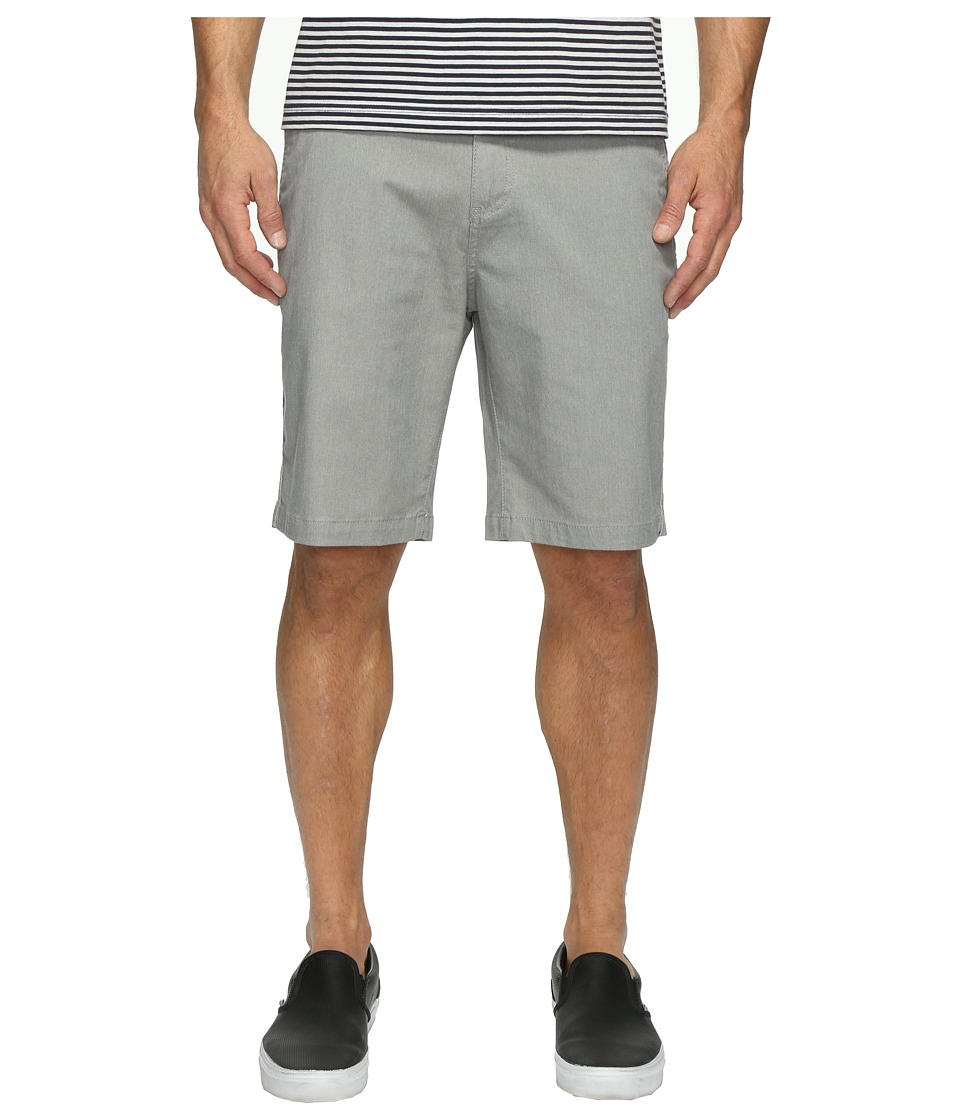 Quiksilver Everyday Union Stretch Chino Shorts (Light Grey Heather) Men