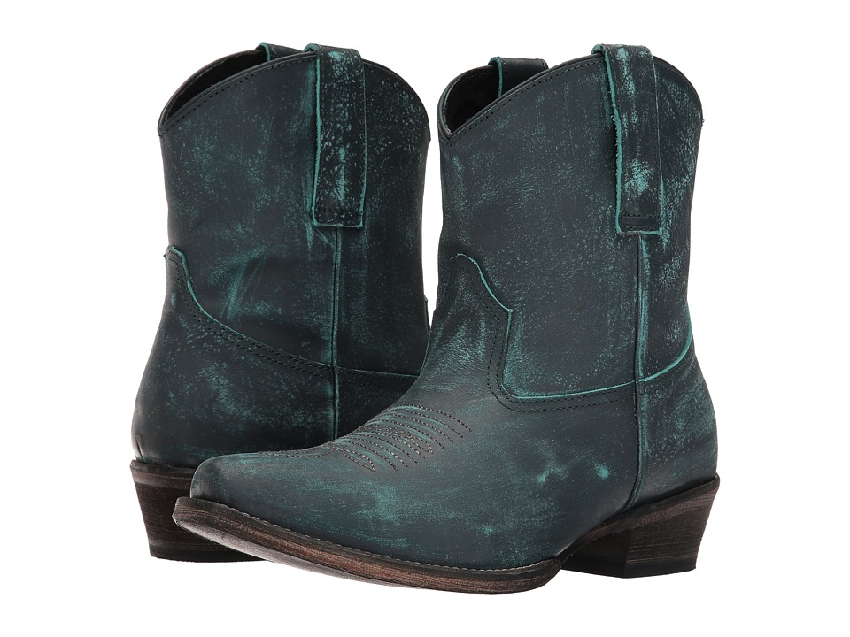 Roper Dusty (Turquoise Rub Off) Cowboy Boots