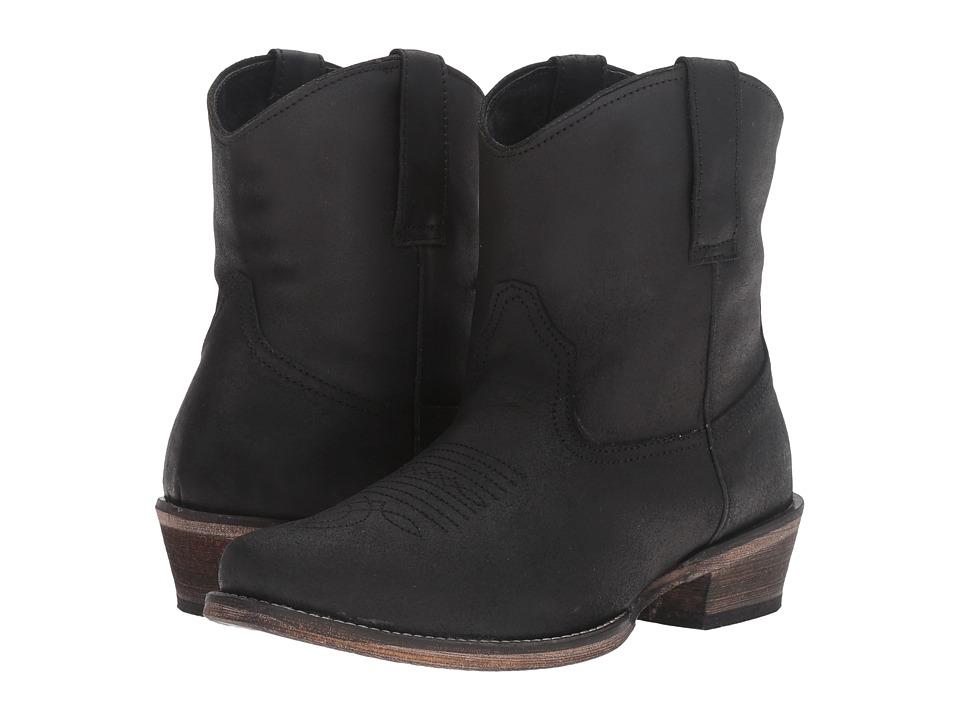 Roper Dusty (Black Split Crazy) Cowboy Boots