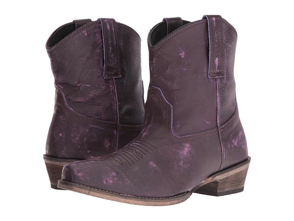 Roper Dusty (Purple Rub Off) Cowboy Boots