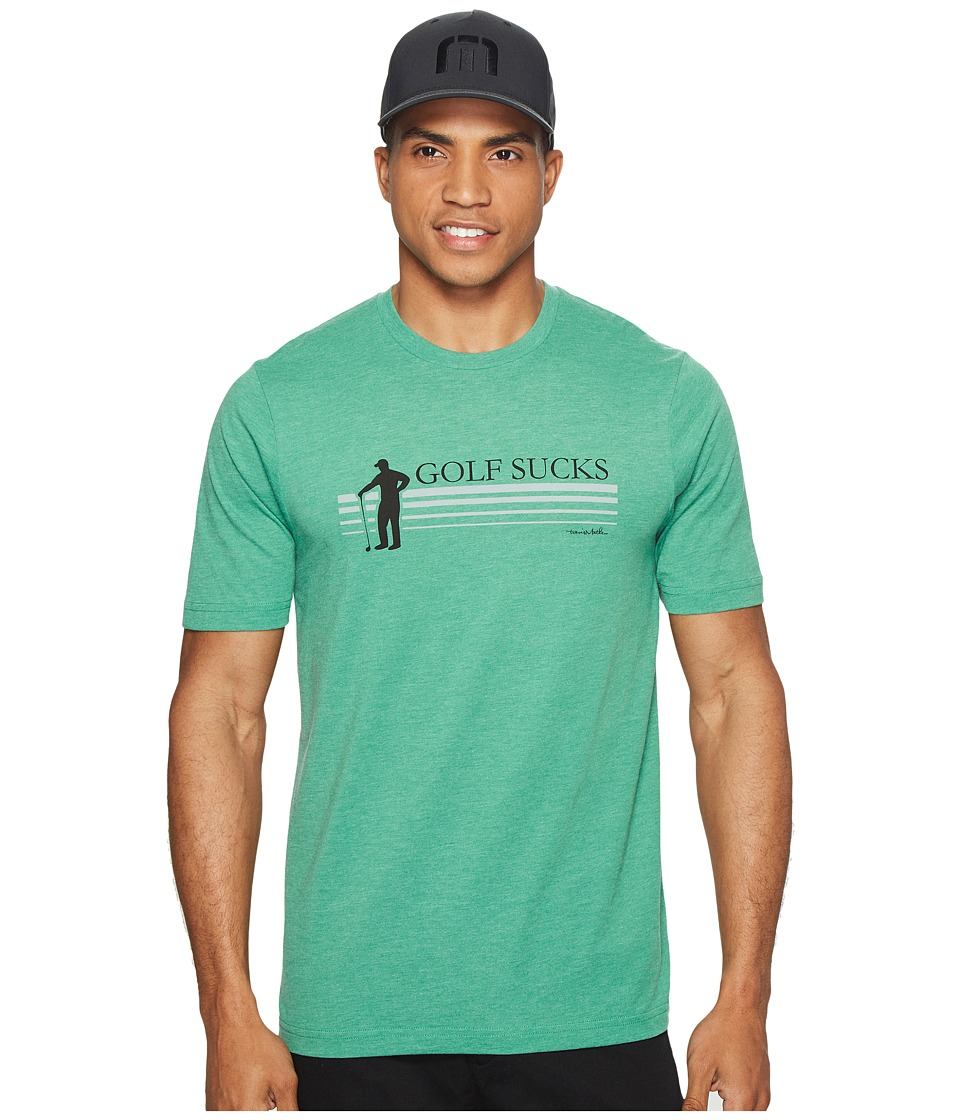 TravisMathew Jason T-Shirt (Heather Green) Men