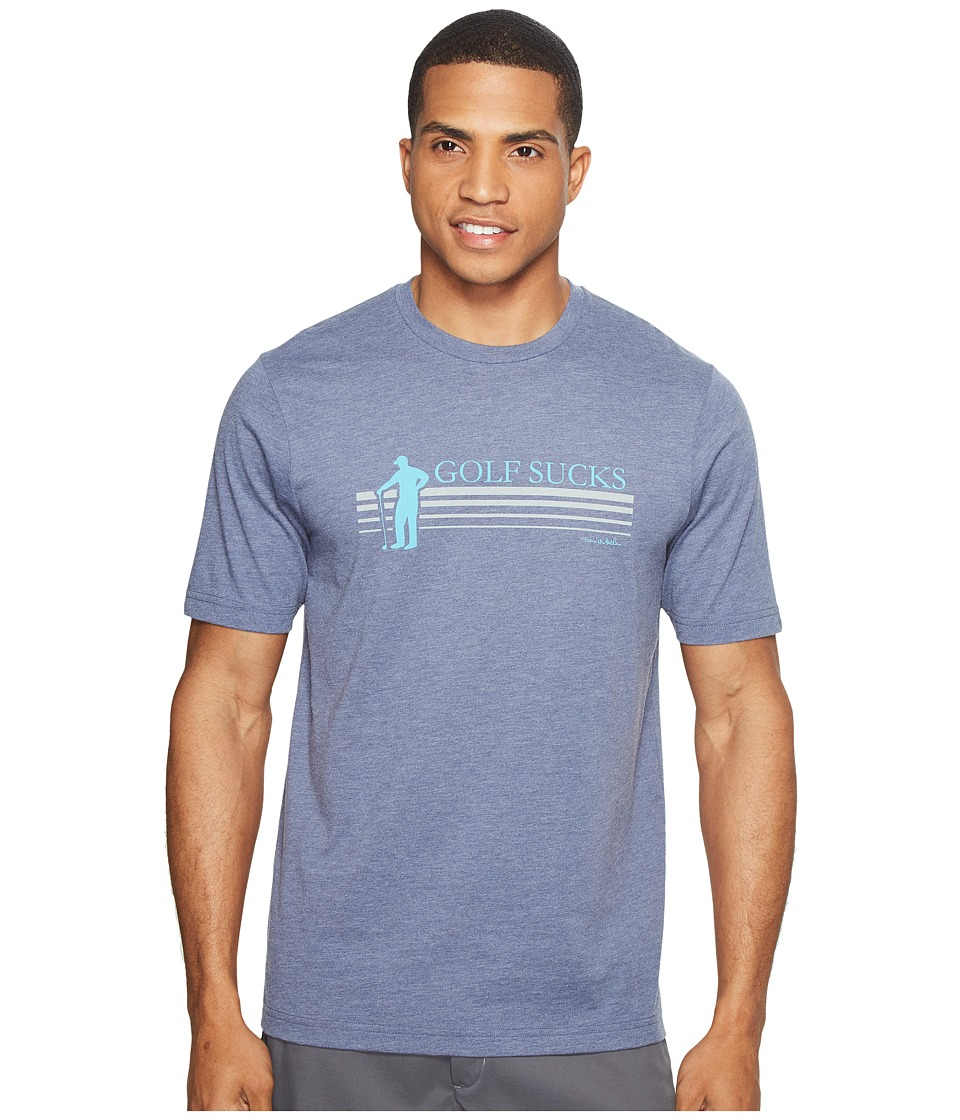 TravisMathew Jason T-Shirt (Heather Navy) Men
