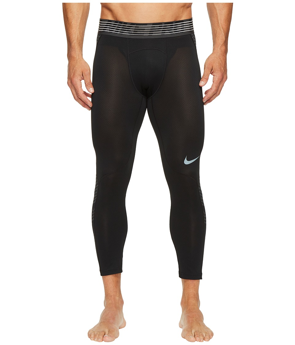 Nike Pro Hypercool 3/4 Training Tight (Black/Anthracite/Metallic Hematite) Men