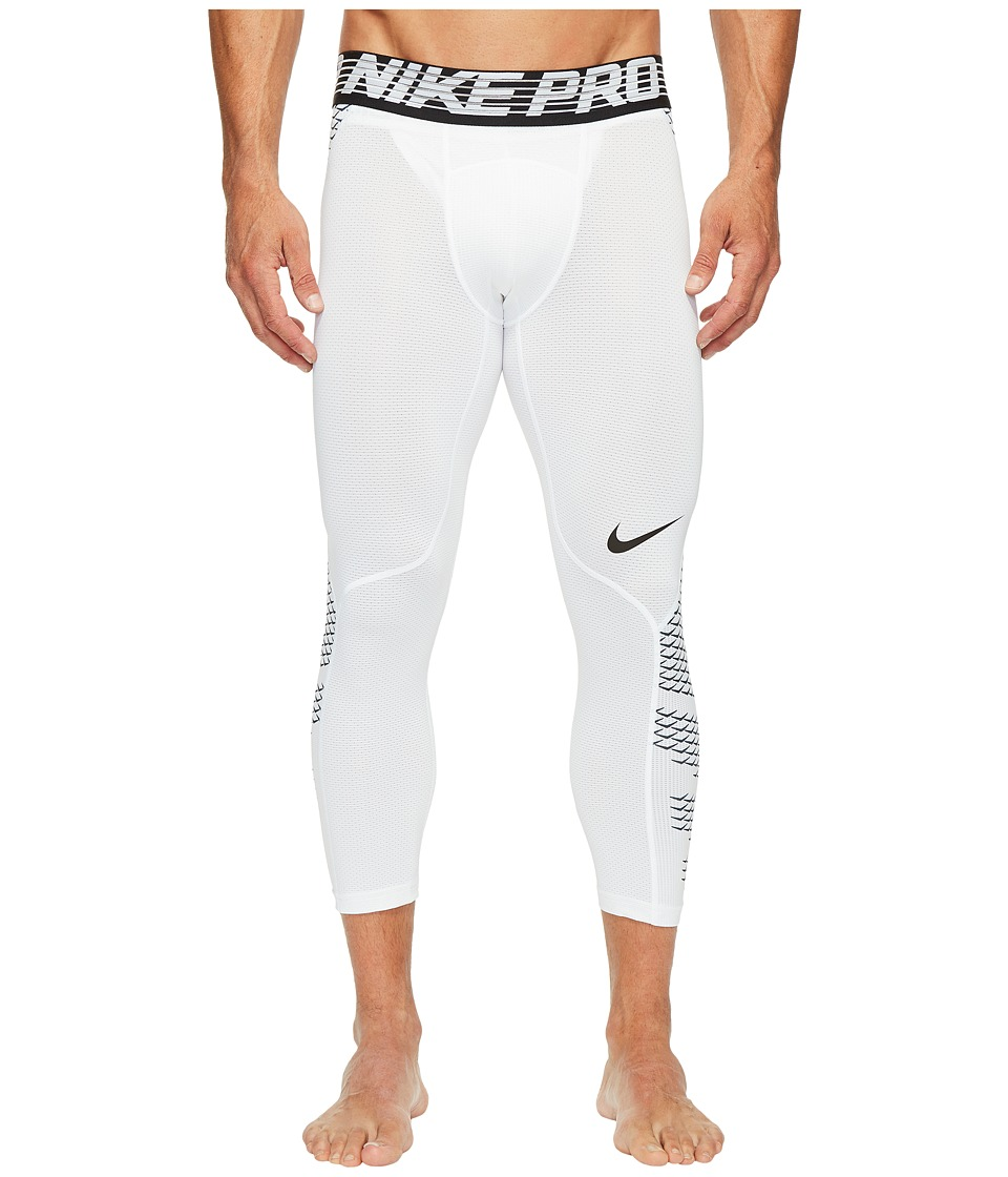 Nike Pro Hypercool 3/4 Training Tight (White/Black/White/Black) Men