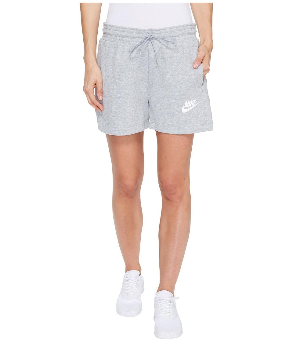 Nike Sportswear Advance 15 Short (Dark Grey Heather/Black/White) Women