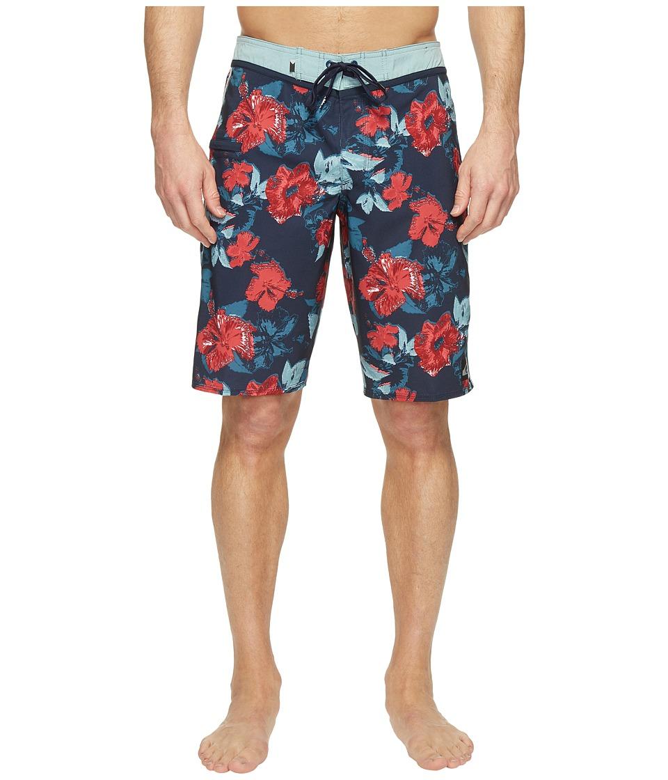 Quiksilver Jungle Fever Vee 21 Boardshorts (Navy Blazer) Men