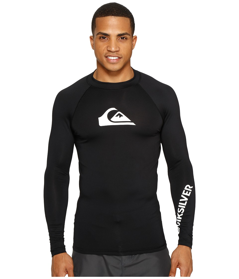 Quiksilver All Time Long Sleeve Rashguard (Black) Men