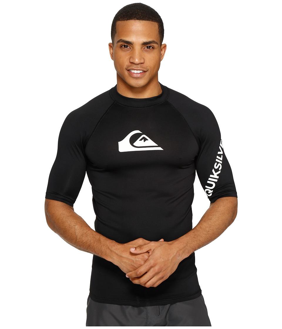 Quiksilver All Time Short Sleeve Rashguard (Black) Men