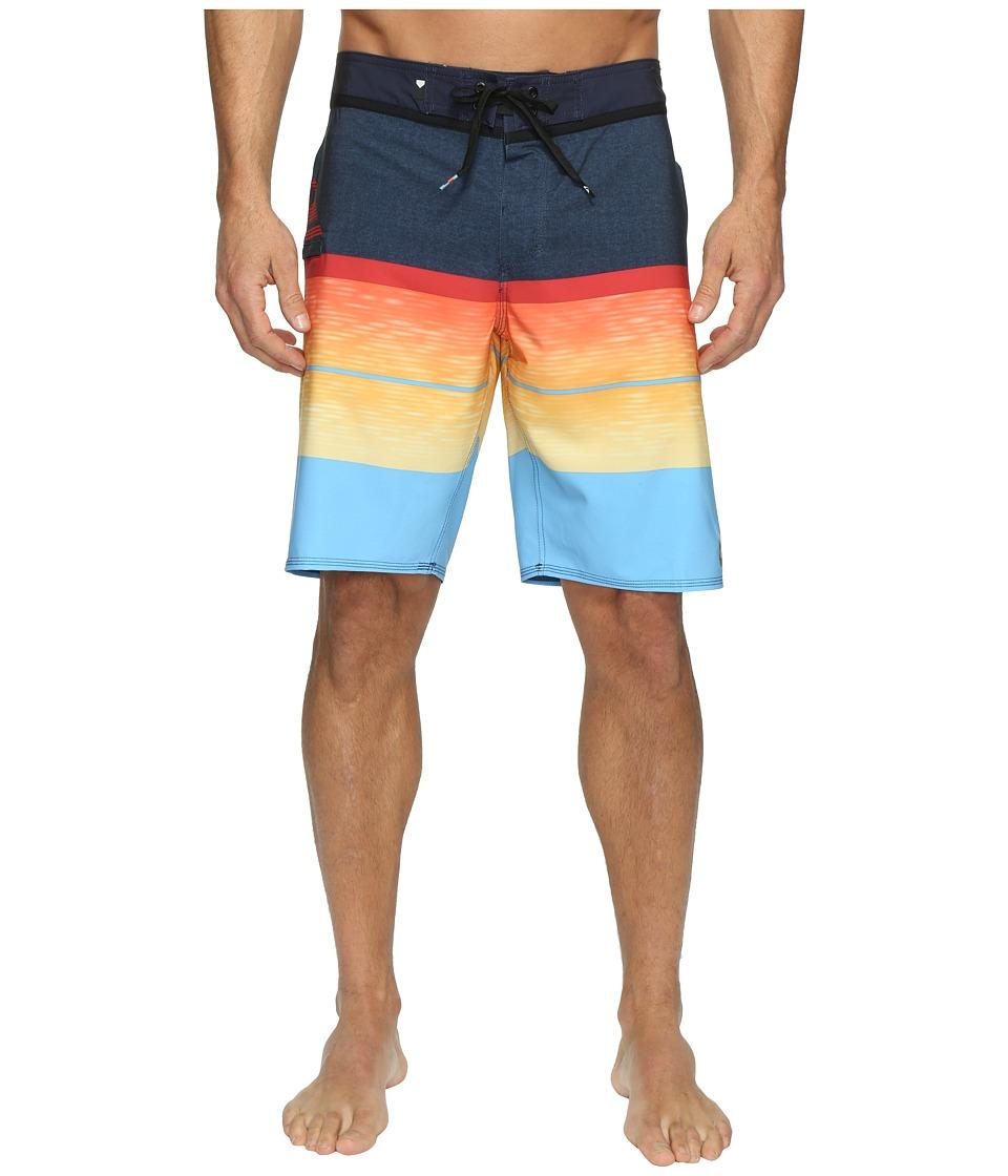 Quiksilver Slab Logo Vee 20 Boardshorts (Navy Blazer) Men