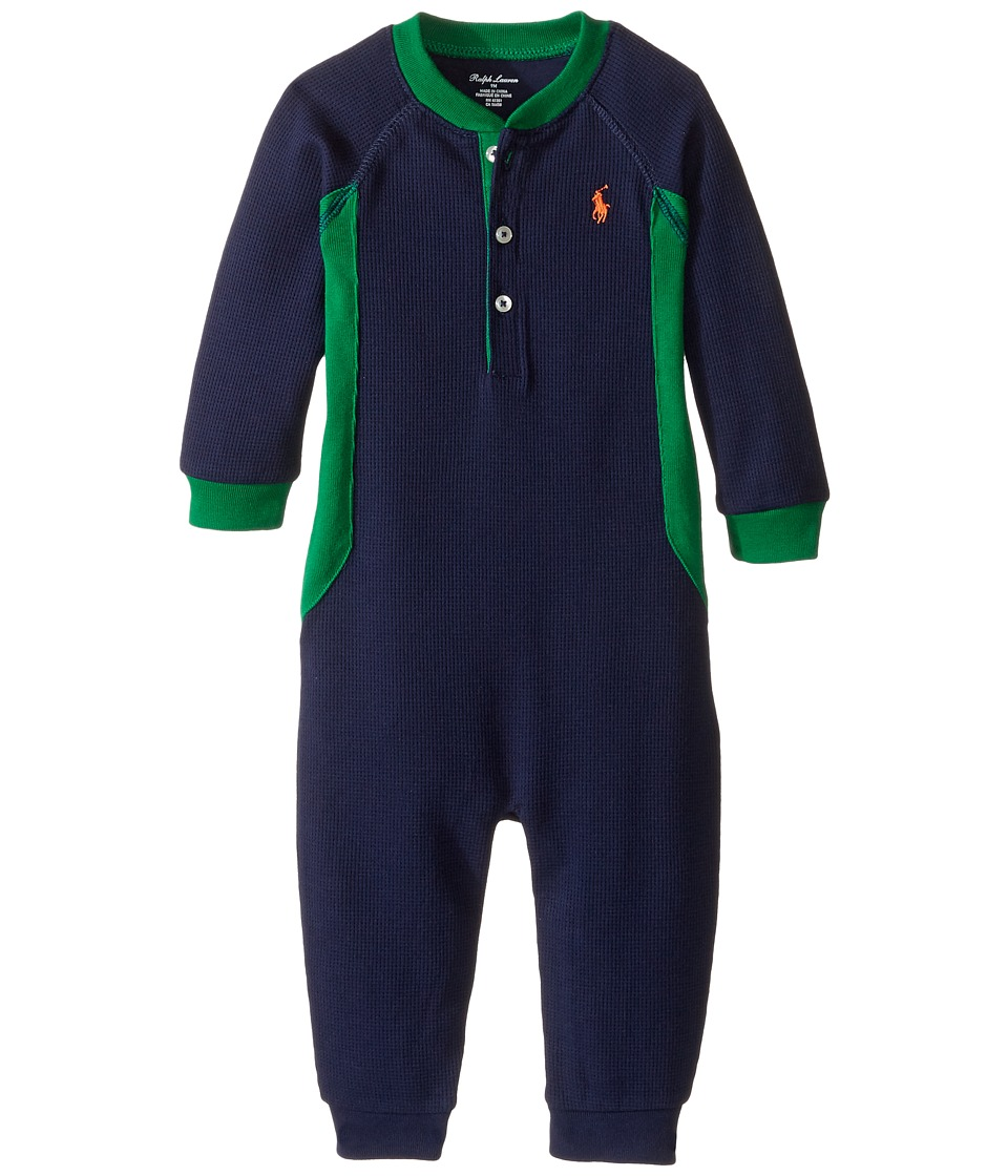 Ralph Lauren Baby - Cotton Poly Waffle Henley One