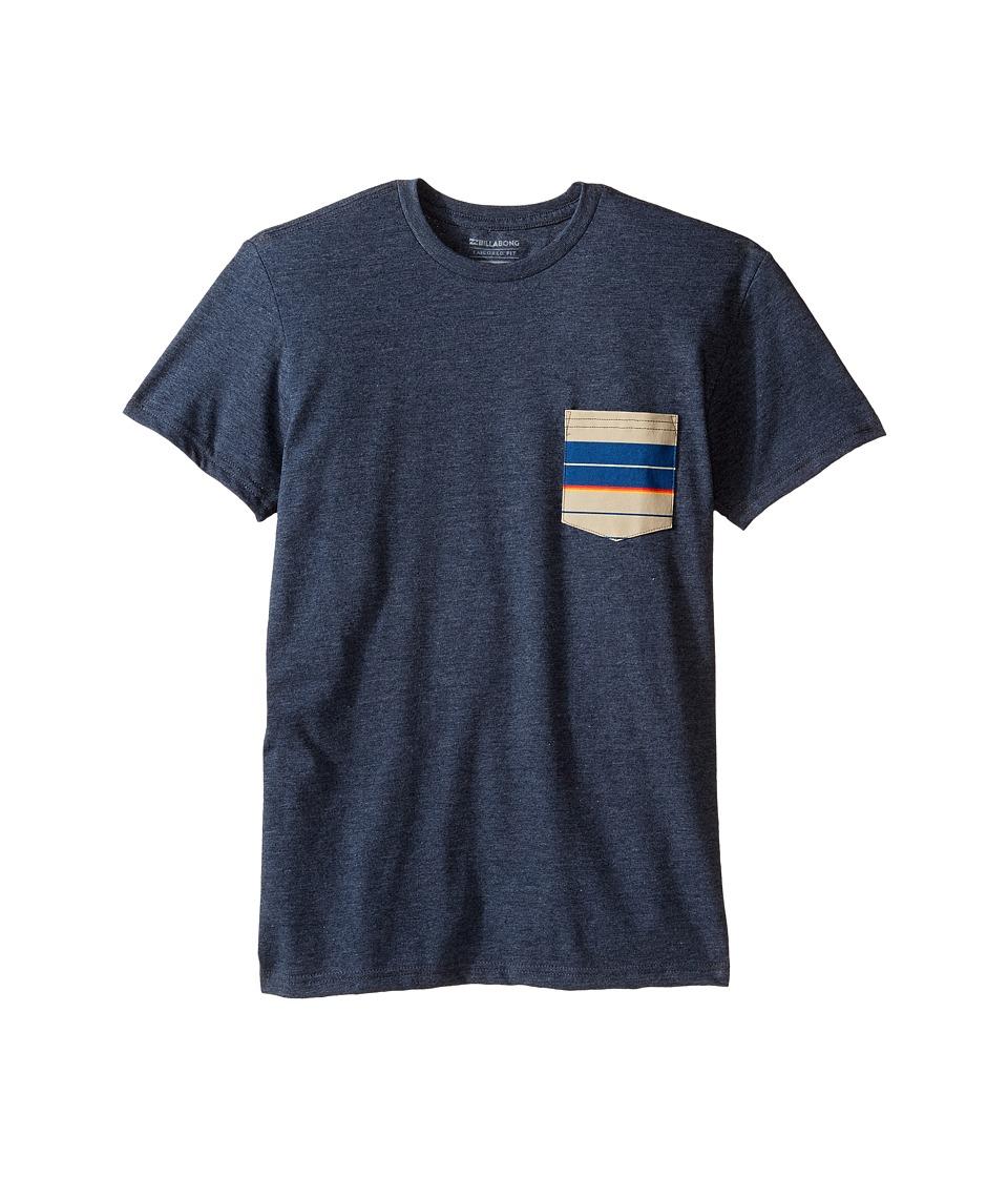 Billabong Kids Team Pocket T-Shirt (Big Kids) (Indigo Heather) Boy
