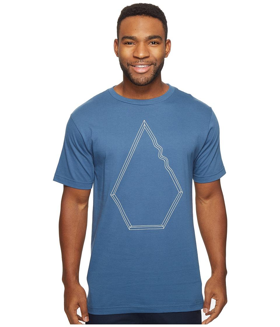 Volcom Drew Short Sleeve T-Shirt (Smokey Blue) Men