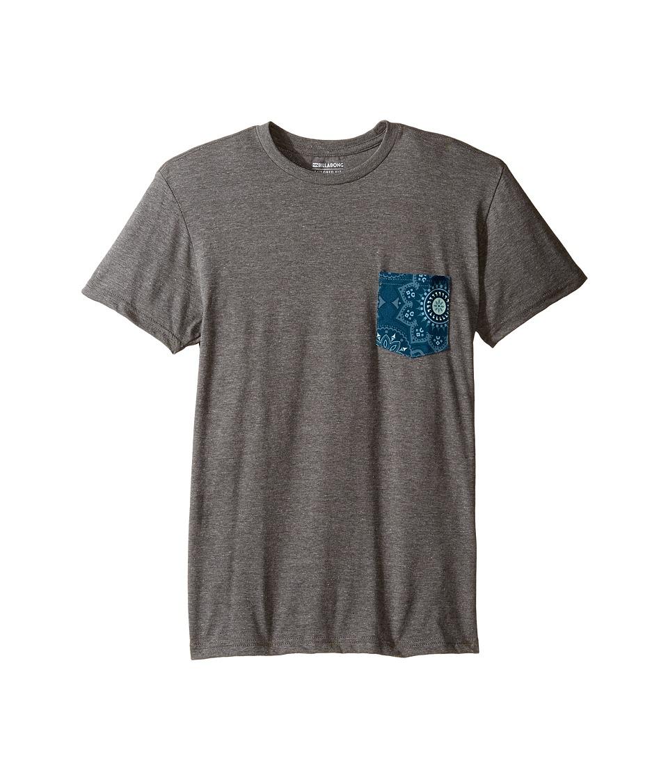 Billabong Kids Team Pocket T-Shirt (Big Kids) (Dark Grey Heather 1) Boy