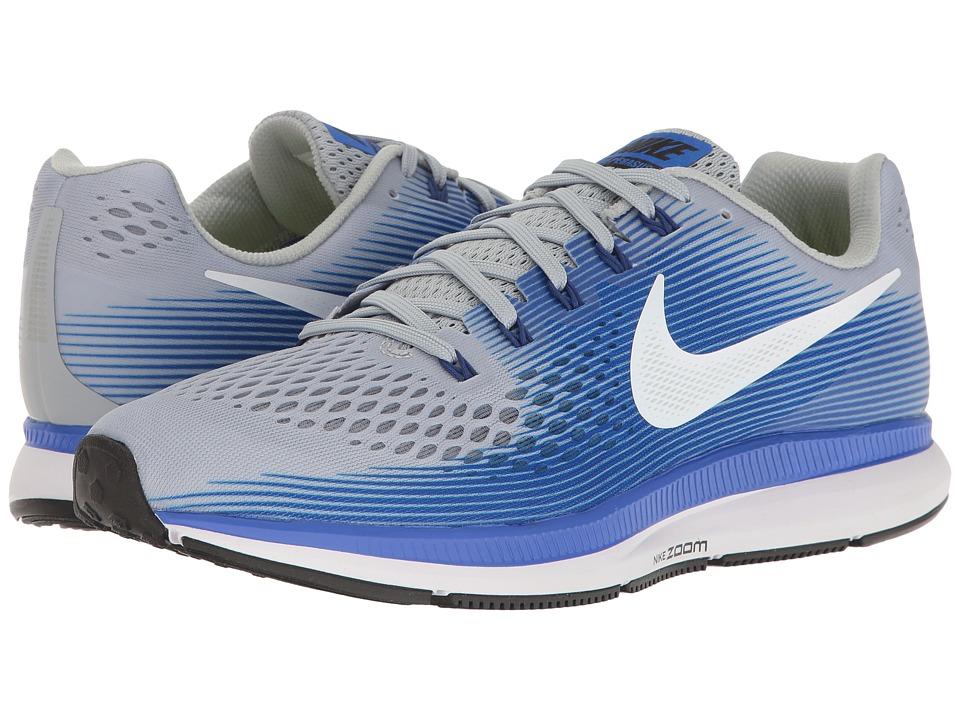 Nike Air Zoom Pegasus 34 (Wolf Grey/White/Racer Blue) Men...