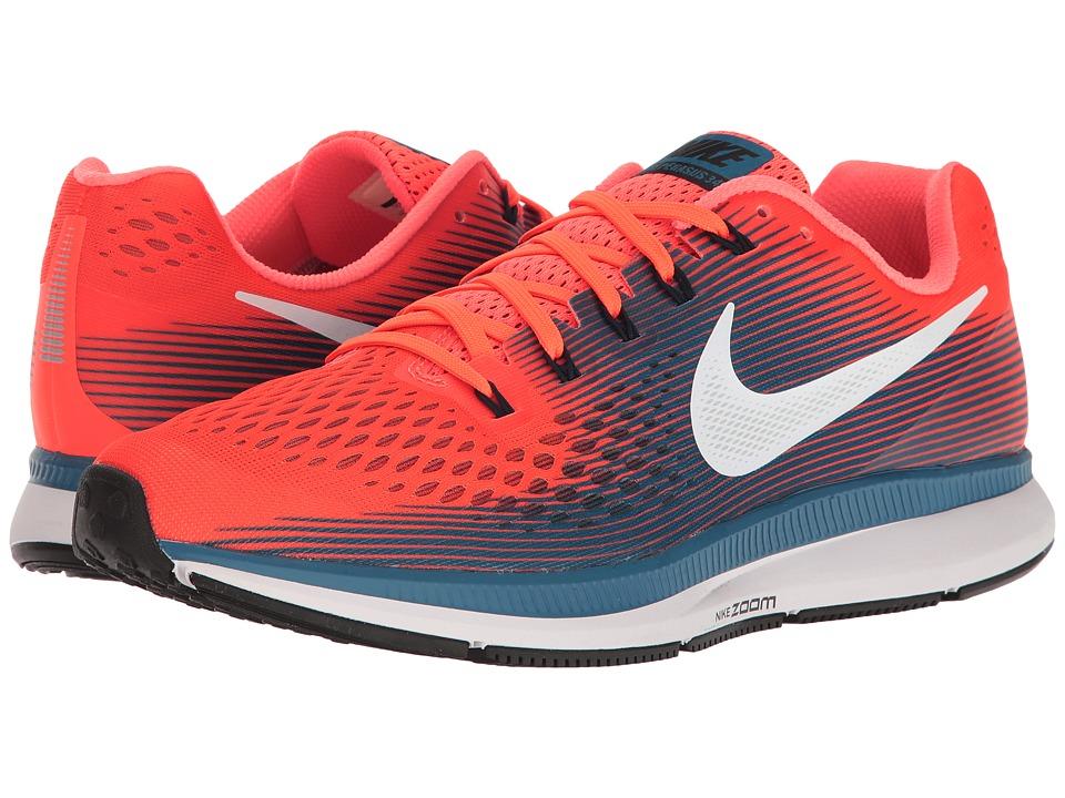 Nike Air Zoom Pegasus 34 (Hyper Orange/Black/Industrial Blue) Men