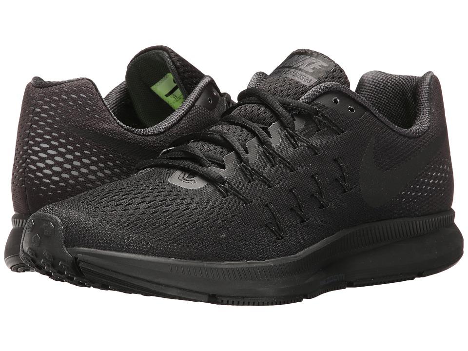 Nike Air Zoom Pegasus 33 (Black/Black/Anthracite/Dark Grey) Men