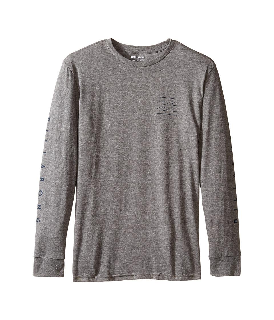 Billabong Kids Unity Long Sleeve T-Shirt (Big Kids) (Dark Grey Heather) Boy