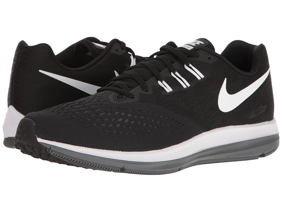 Nike Zoom Winflo 4 (Black/White/Dark Grey) Men's Running ...