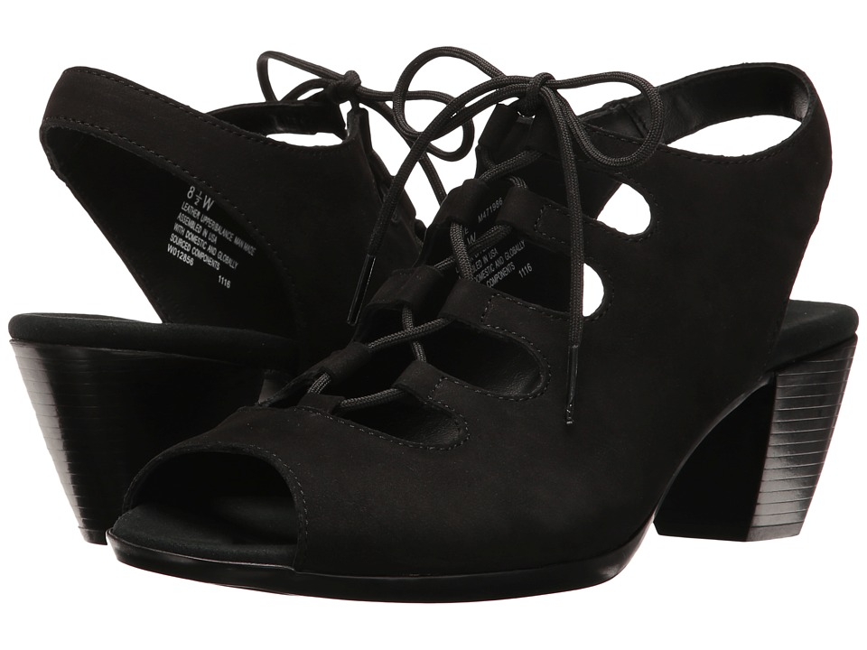 Munro - Jillie (Black Nubuck) Womens  Shoes