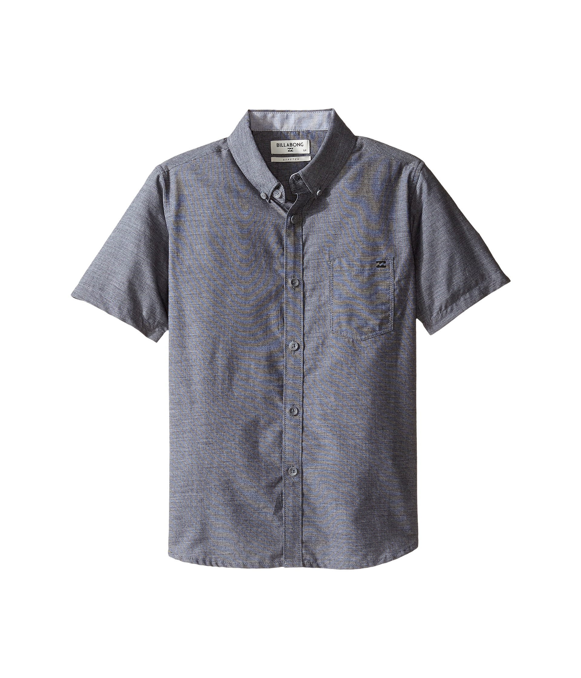 Billabong kids all day chambray short sleeve shirt big for Chambray shirt for kids
