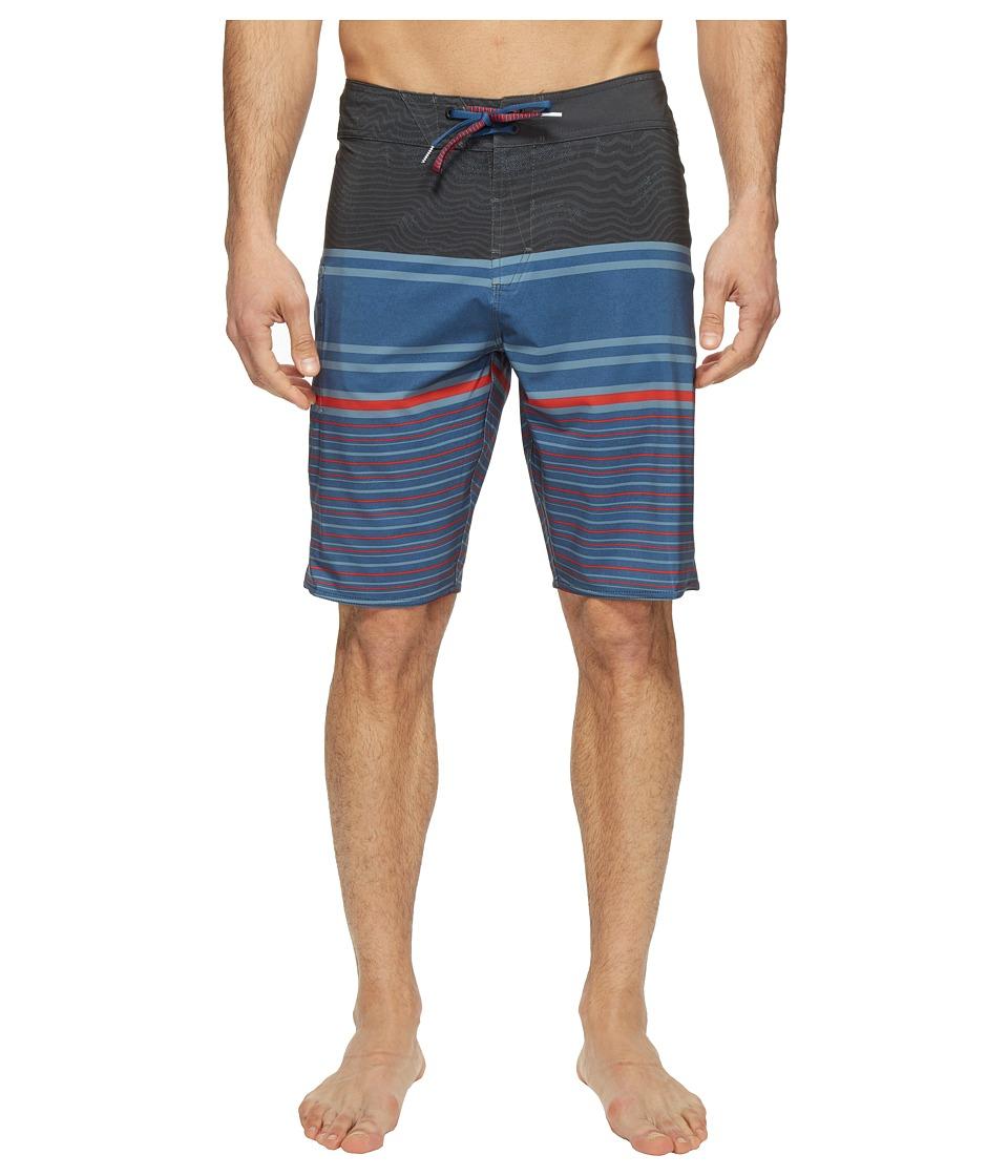 Volcom Lido Liney Mod 21 Boardshorts (Smokey Blue) Men