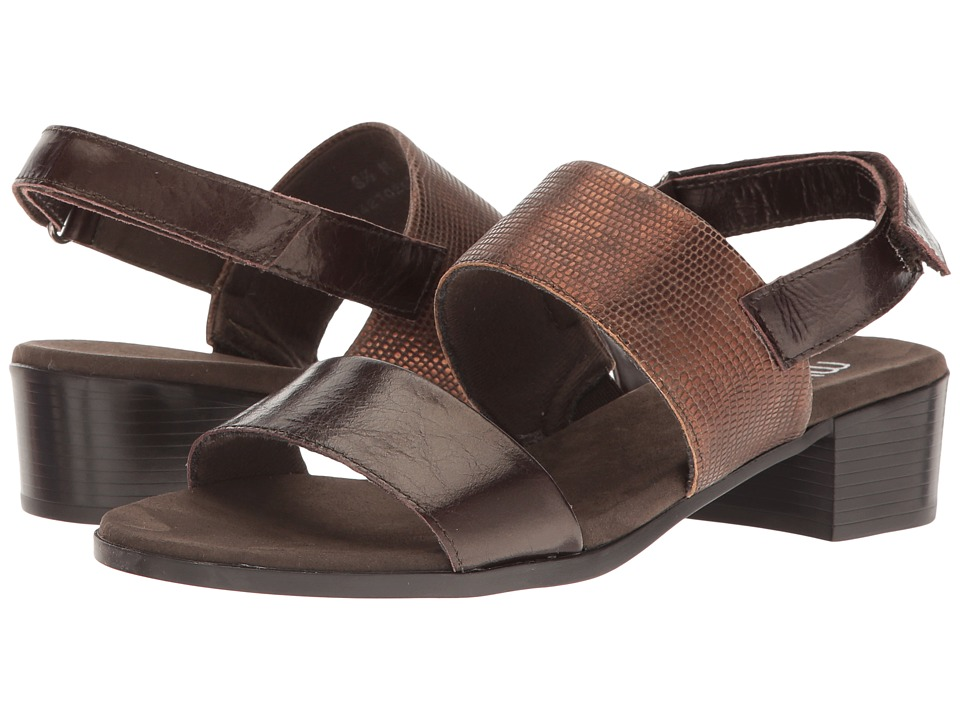 Munro - Kristal (Brown/Brown Lizard Trim) Women's  Shoes