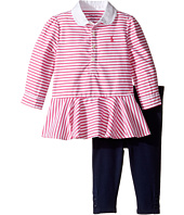 Ralph Lauren Baby - Cotton Jersey Stripe Tunic Leggings Set (Infant)
