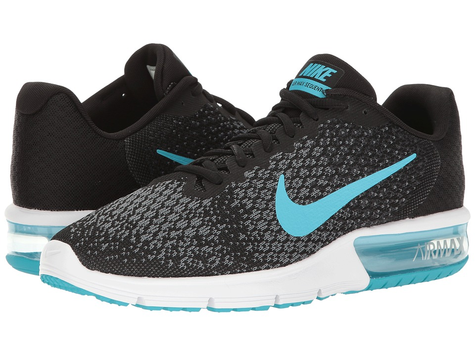 Nike Air Max Sequent 2 (Black/Chlorine Blue/Anthracite/Cool Grey) Men